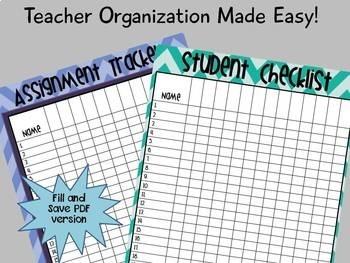 Teacher Binder Tools: Fillable Grade Sheet
