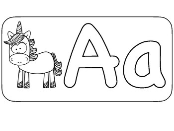 Fill The Letters with Mini Unicorn Erasers