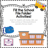 Fill The School File Folder