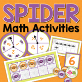 Spiders Math Activities: Spider Counting and Number Activities