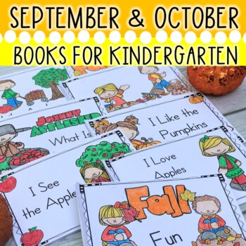Fill Those Book Boxes! Simple Fall Emergent Readers (apples, pumpkins)