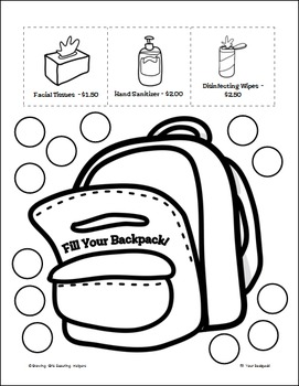 """Fill Your Backpack! - Girl Scout Brownies - """"Money Manager"""" Activity Pk (Step 4)"""