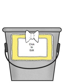 Fill Your Bucket, Bucket Fillers, *EDITABLE*