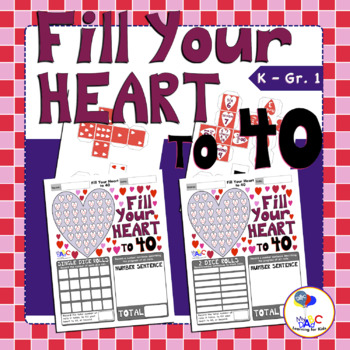 Fill Your Heart to 40 Math Game