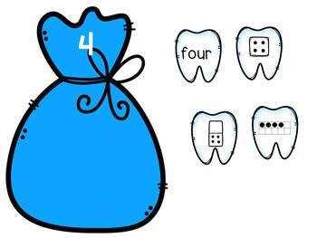 Fill a Tooth Bag - Numbers