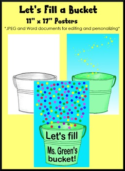 Fill a Bucket Poster, Kindness and Character Education