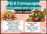 Thanksgiving Fill a Cornucopia Articulation and Language G