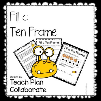 Fill a Ten Frame- Monster Theme