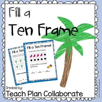 Fill a Ten Frame- Summer Fun