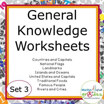 Task Cards - General Knowledge -  Sub Tubs - Fill-er-in-er-er - Set 3