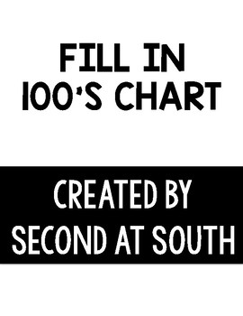 Fill in 100's Chart