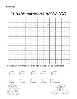 Fill in 100's Charts (Spanish)