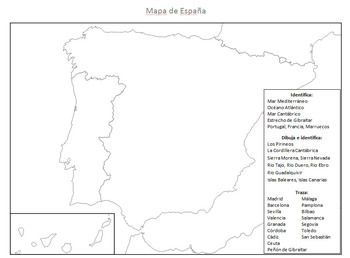 Fill-in Map of Spain