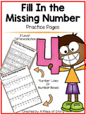 Fill in The Missing Numbers 1-10- Distance Learning