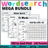 Word Search MEGA Bundle:  Fill-in and Find Puzzles
