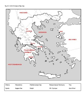 Fill in map of ancient Greece