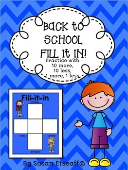 Fill in the 100s Chart Bundle - Practice with 10 more, 10 less