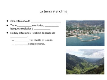 Fill in the Blank Cloze Notes for Colombia PowerPoint