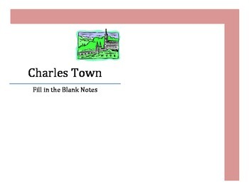 Fill in the Blank - Colonial Charles Town and Slavery