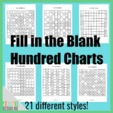 Fill in the Blank Hundred Charts