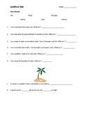 Fill in the Blank Landform Test (With Word Bank)