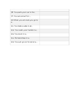 Fill in the Blank - Level I, TBI/Aphasia/ELL/Auditory Comprehension