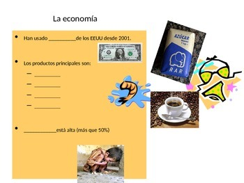 Fill in the Blank Notes for El Salvador PowerPoint