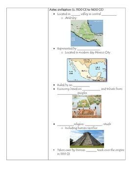 Fill-in-the-Blank Notes for VA SOL WHI.11 The Americas