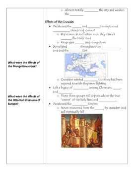 Fill-in-the-Blank Notes for VA SOL WHI.12 Late Middle Ages