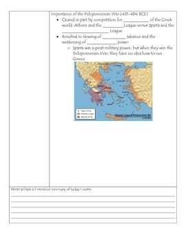 Fill-in-the-Blank Notes for VA SOL WHI.5 Ancient Greece