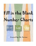 Fill in the Blank Number Charts