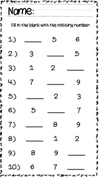 Fill in the Blank Numbers (1-10)