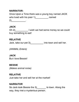 Fill in the Blank - Plays! Jack and the BLANK Stalk