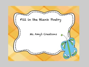 Fill in the Blank Poetry