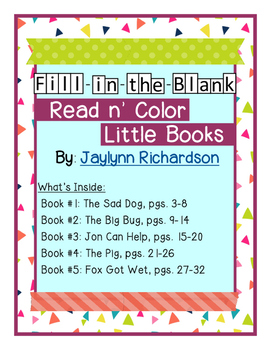 Fill-in-the-Blank, Read n' Color Little Books
