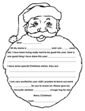 Fill in the Blank Santa Letter