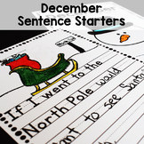 December Sentence Starters Writing Prompts