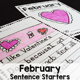 February Sentence Starters Writing Prompts