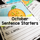 October Sentence Stem Writing Prompts