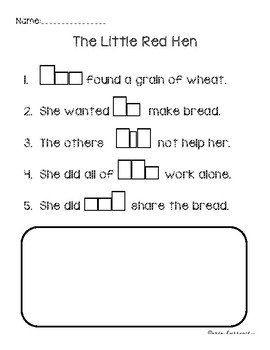 Fill in the Blank Sentences - The Little Red Hen
