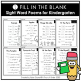 Fill in the Blank: Sight Word Poems for Kindergarten