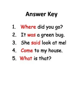 Fill in the Blank Sight Word WS (Where & Come)