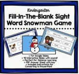 Fill-in-the-Blank Sight Word Winter Snowman Game Kindergarten