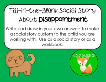 Fill-in-the-Blank Social Story about Disappointment