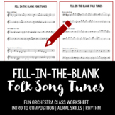 Fill in the Blank Songs - write the missing note in familiar tunes