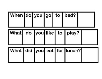 Sentence Strips for Simple Questions