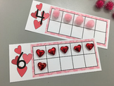 Fill in the Blank Ten Frame-Hearts/Valentines 0-10