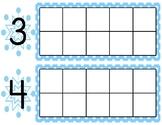 Fill in the Blank Ten Frame-Winter 0-10