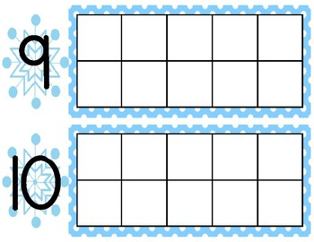 Fill in the Blank Ten Frame-Winter 0-10