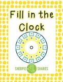 Fill in the Clock
